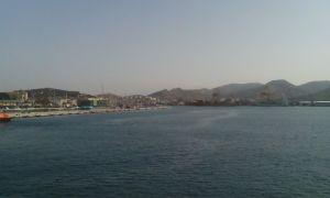 Puerto de Cartagena desde el BIO Hespérides. Foto: Pablo Rodríguez Ros.