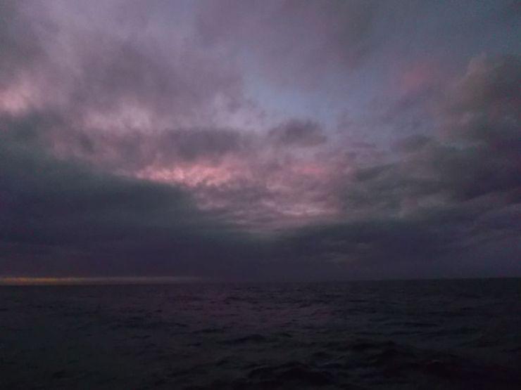 La nubes desde el BIO Hespérides.