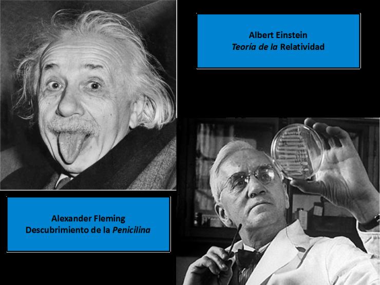 Albert Einstein y Alexander Fleming
