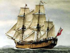 El Endeavour de James Cook.