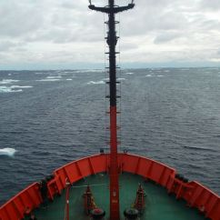 Navegando rumbo a las Islas South Georgia.