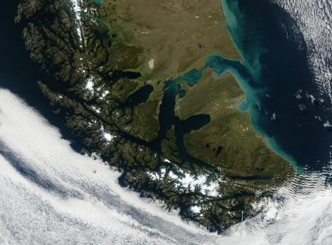 Tierra del Fuego. Imagen de la Nasa.