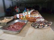Comida en la BAE Juan Carlos I.