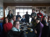 Desayuno en la Base Argentina.