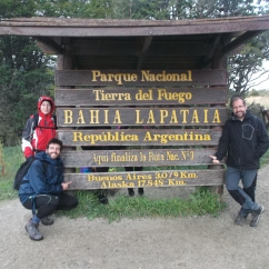 Fin de la Ruta Nacional nº3, la cual une la Patagonia con Alaska