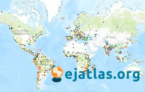 Atlas mundial de Justicia Ambiental, de los conflictos ecológicos, publicado por EJOLT.