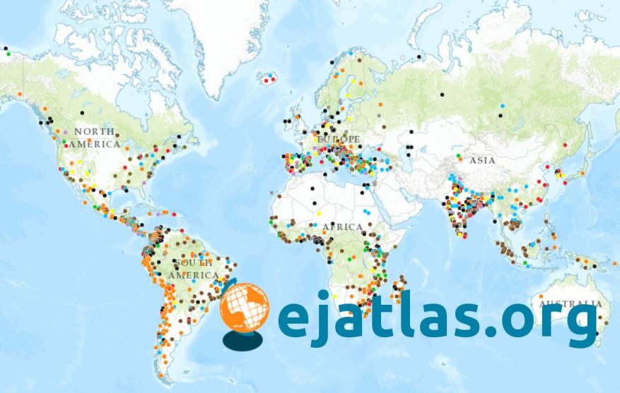 Atlas mundial de Justicia Ambiental, publicado por EJOLT.