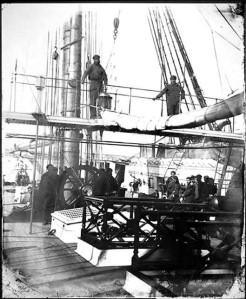 Aduana del Puerto de Cádiz, previa partida hacia América. Fuente: http://www.pacifico.csic.es/uym3/xml.htm