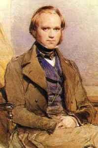 El joven Charles Darwin.