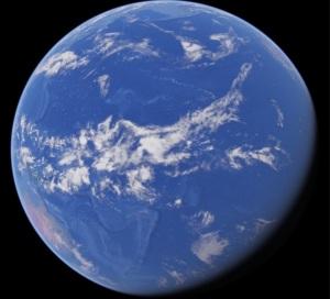 El Océano Pacífico (Fuente: Google Earth).