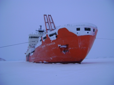 Buque oceanográfico ruso Akademik Tryoshnikov. © AARI
