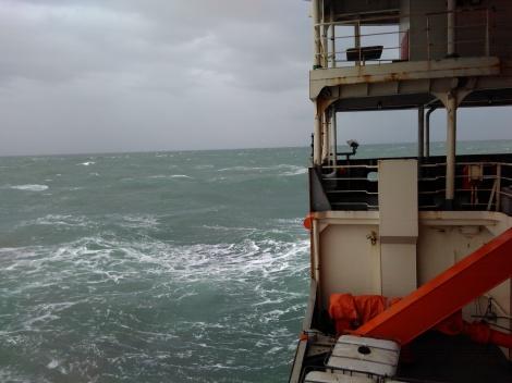Navegando a bordo del Buque oceanográfico ruso, Akademik Tryoshnikov.
